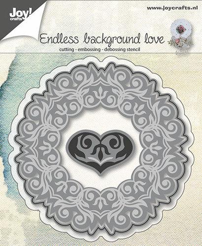 Snij-embos-debosstencil - achtergrond met hart