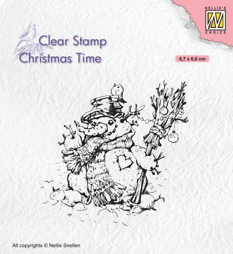 Nellies Choice Clearstempel - Christmas time - Sneeuwpop CT034 67x56mm (07-20)