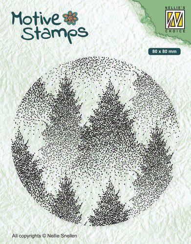 Nellies Choice Christmas Silhouette Clearstamp - Mistig Bos TXCS017 80x80mm (07-20)