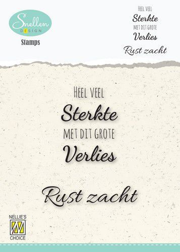 Nellie's Choice Clear Stamps - (NL) 	Heel veel sterkte Dutch Condolence Text Clear Stamps 53x67mm (0