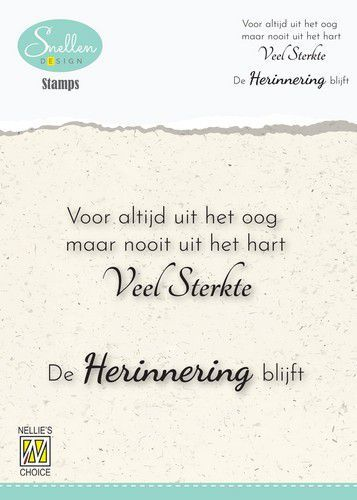 Nellie's Choice Clear Stamps - (NL) 	Voor altijd uit het oog Dutch Condolence Text Clear Stamps 72x5