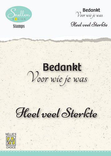 Nellie's Choice Clear Stamps - (NL) 	Bedankt voor wie je was Dutch Condolence Text Clear Stamps 73x4