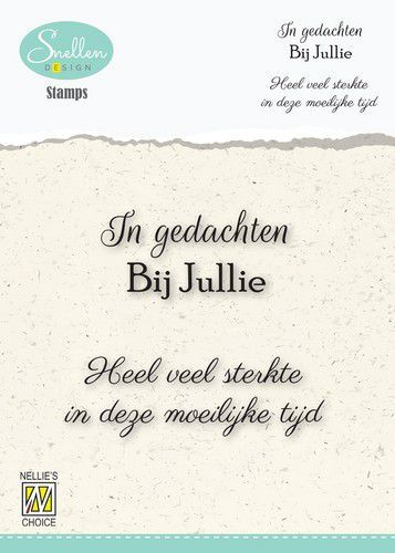 Nellie's Choice Clear Stamps - (NL) 	In gedachten bij jullie Dutch Condolence Text Clear Stamps 66x5