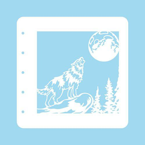 Nellie's Choice Stencil Christmas Time - Wolf COLST008 (07-20)