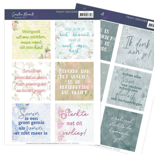 Tekst Designs - Jeanine's Art - Sensitive Moments (NL)