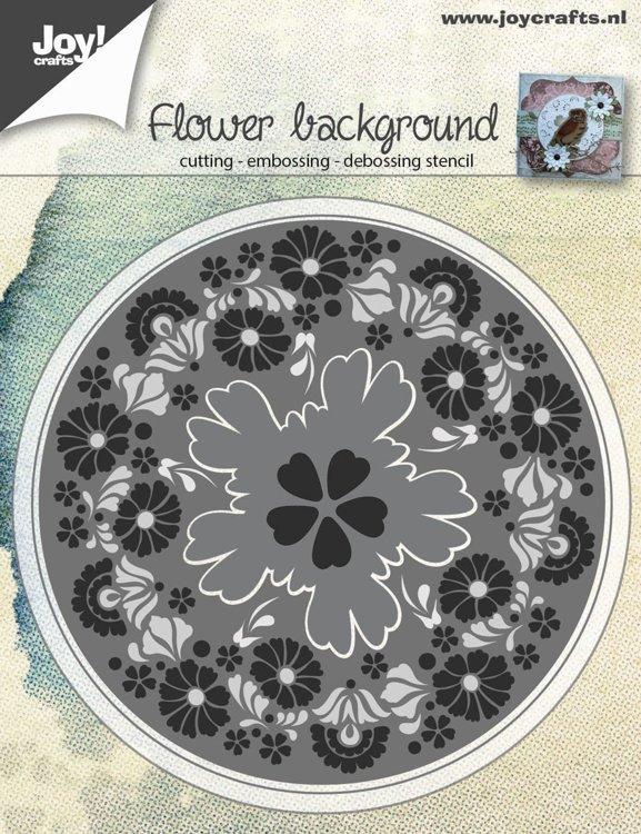 Joycrafts Snij-embos-debosstencil-bloemenachtergrond 6002/0565
