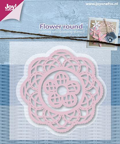 Snij-embosstencil - Mery`s bloemen rond (2st)
