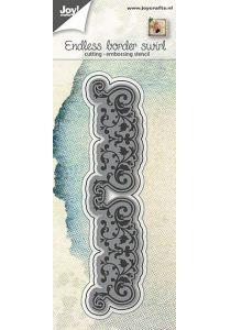 Snij-embosstencil - eindeloos rand met swirls