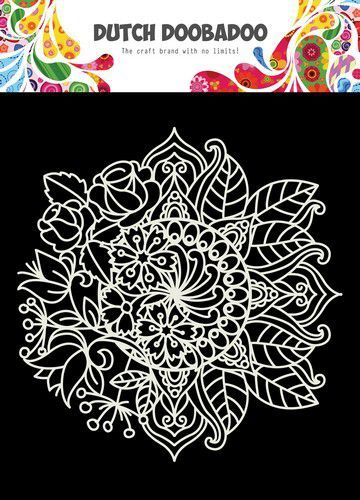 Dutch Doobadoo Mask Art 15x15cm Mandala met Bloem 470.715.624 (07-20)