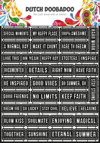 Dutch Doobadoo Dutch Paper Art A4 Tekst (Eng) 472.950.008 (07-20)