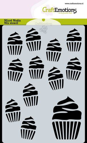 CraftEmotions Mask stencil cupcakes A6 Carla Creaties (07-20)