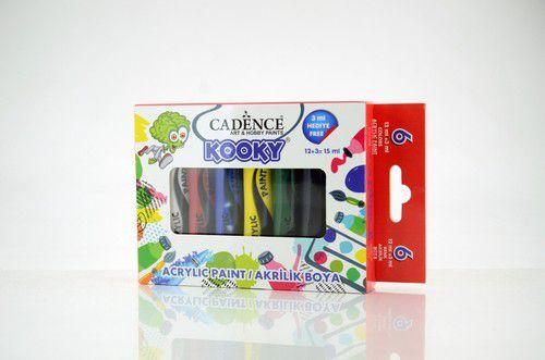 Cadence Kooky acrylverfset 15ml 6 st 11 005 0001 SET2 6x15ML (07-20)