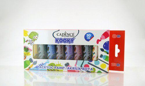 Cadence Kooky acrylverfset 20ml 8 st 11 005 0000 SET5 8x20ML (07-20)