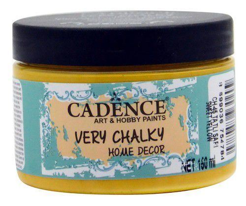 Cadence Very Chalky Home Decor (ultra mat) Zoet geel 01 002 0045 0150 150 ml (07-20)