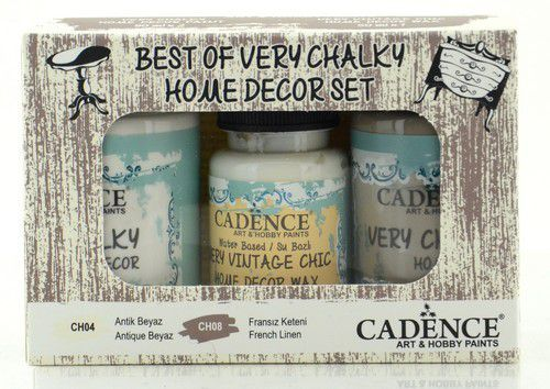 Cadence Very Chalky Home Decor set Antiek wit - Frans linnen 01 002 0002 909050 90+90+50 ml (07-20)