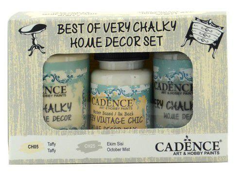 Cadence Very Chalky Home Decor set Taffy - October Mist 01 002 0003 909050 90+90+50 ml (07-20)
