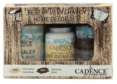Cadence Very Chalky Home Decor set Zandbruin - bruin 01 002 0004 909050 90+90+50 ml (07-20)