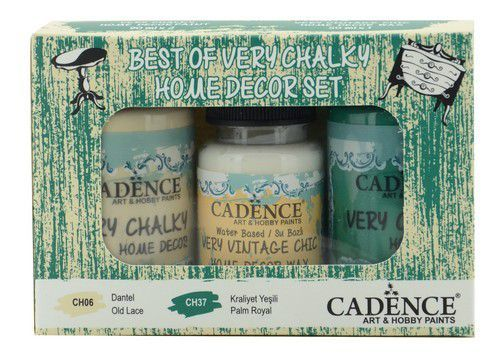 Cadence Very Chalky Home Decor set Old lace - Palm Royal 01 002 0005 909050 90+90+50 ml (07-20)
