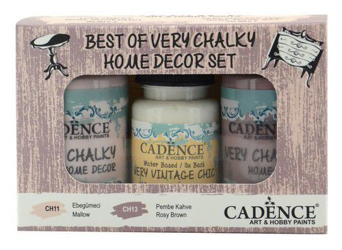 Cadence Very Chalky Home Decor set Mallow - Rosy brown 01 002 0006 909050 90+90+50 ml (07-20)