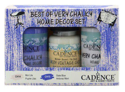 Cadence Very Chalky Home Decor set Paars lila - Leisteenblauw 01 002 0007 909050 90+90+50 ml (07-20)