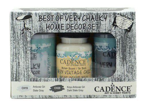 Cadence Very Chalky Home Decor set Leigrijs - donkergrijs 01 002 0008 909050 90+90+50 ml (07-20)