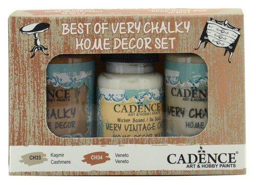 Cadence Very Chalky Home Decor set Kasjmier - Veneto 01 002 0009 909050 90+90+50 ml (07-20)