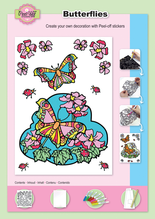 Colouring set Butterflies Markers included