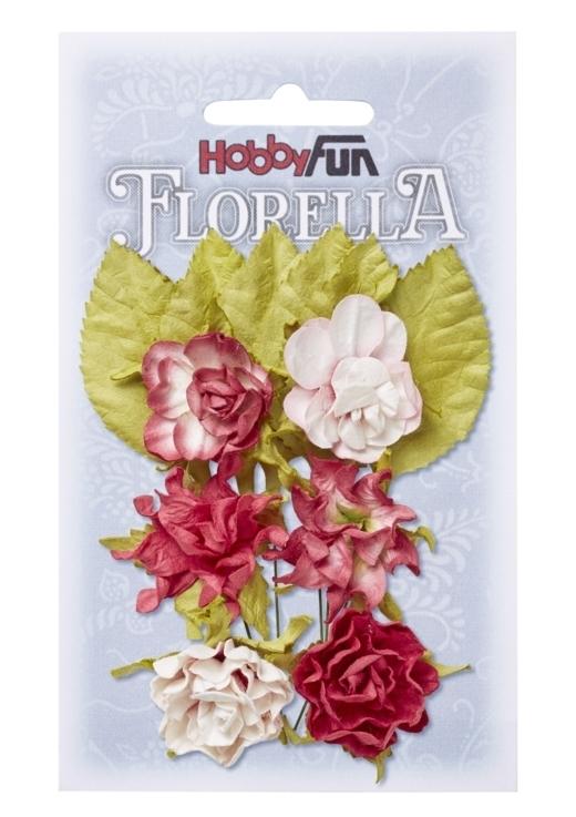 FLORELLA-Blüten&Blätter hortensie,3cm