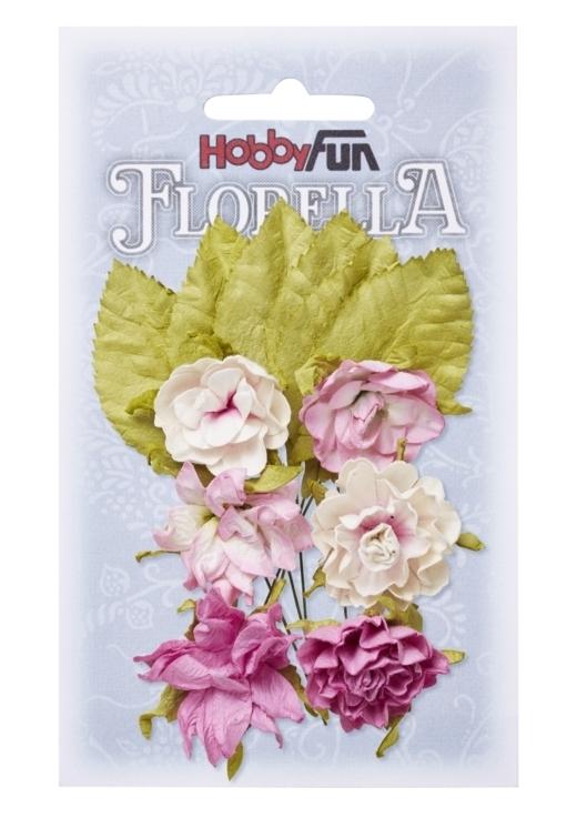 FLORELLA-Blüten&Blätter rosé, 3cm
