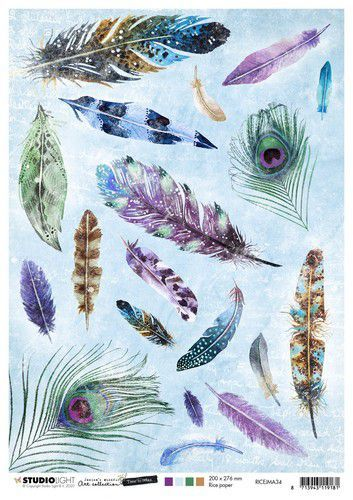 Studio Light Rice Paper A4 vel Jenine's Mindful Art 5.0 nr.34 RICEJMA34 (08-20)