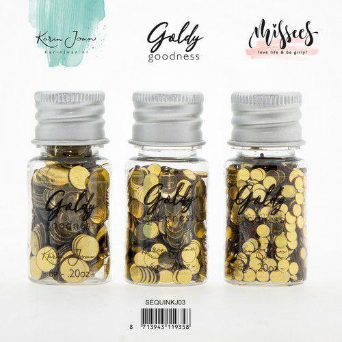studio Light Karin Joan Sequins Set Golden Goodness 3 st  nr.03 SEQUINKJ03 (09-20)