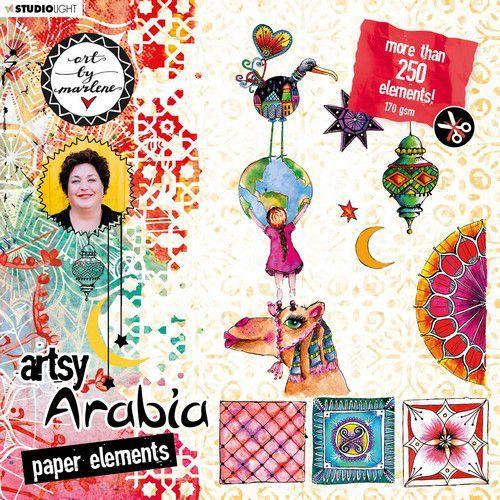 Studio Light Die Cut blocs Art By Marlene Artsy Arabia nr.02 STANSBLOKBM02 20x20cm (09-20)