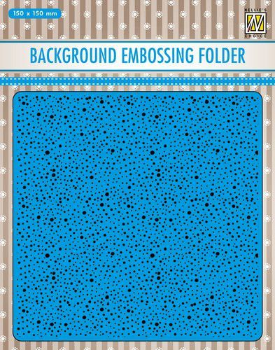 Nellies Choice Emb.folder Achtergrond Dots EEB030 150x150mm (07-20)