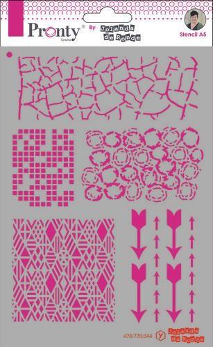 Pronty Mask Pattern backgrounds A5 470.770.044 by Jolanda (07-20)