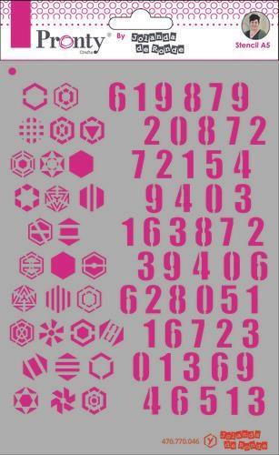 Pronty Mask Pattern numbers A5 470.770.046 by Jolanda (07-20)