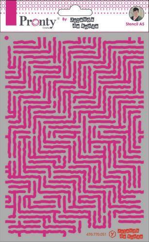 Pronty Mask Pattern stripes A5 470.770.051 by Jolanda (07-20)