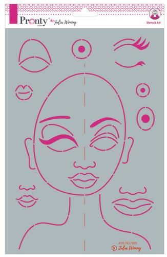 Pronty Stencil Stencil Special Face 470.765.999 A4 Julia Woning (08-20)