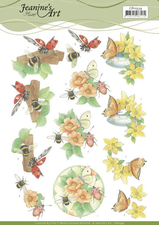 3D Cutting Sheet -Jeanine's Art -Butterfly