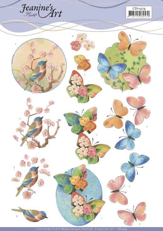 3D Cutting Sheet -Jeanine's Art -Birds and Blossom