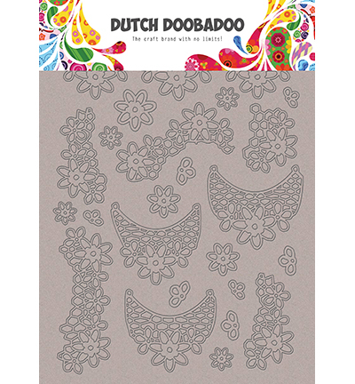 DDBD Greyboard Art Lace flowers