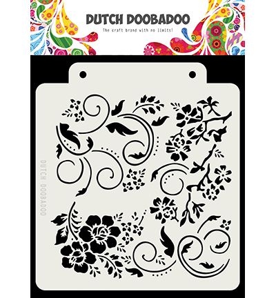 DDBD Dutch Mask Art Flowers and swirls