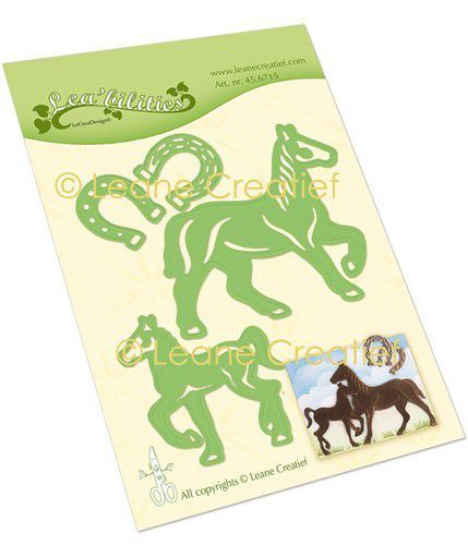 LeCrea - Leabilitie Paard & Veulen snij en embossing mal 45.6715 (09-20)