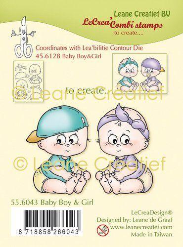 LeCrea - clear stamp combi  Baby jongen & meisje 55.6043 (09-20)