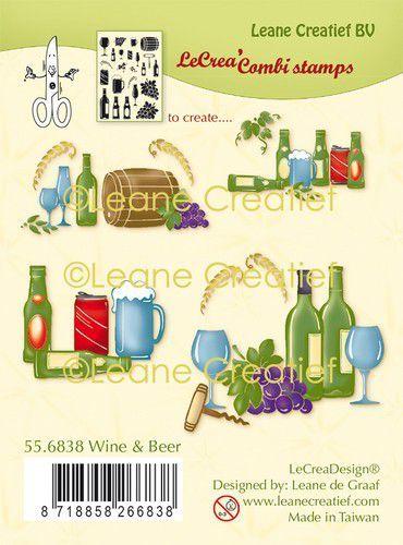 LeCrea - clear stamp combi  Wijn & Bier 55.6838 (09-20)