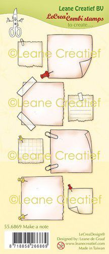LeCrea - clear stamp combi  Notitie blaadjes 55.6869 (09-20)