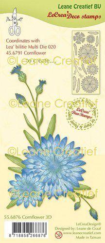 LeCrea - clear stamp deco Korenbloem 3D 55.6876 (09-20)