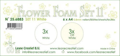 LeCrea - Flower Foam set 11 6 vl 2x3 Wit 25.6883 A4 (09-20)