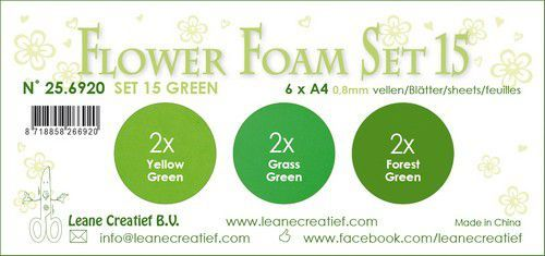 LeCrea - Flower Foam set 15 6 vl 3x2 Groen 25.6920 A4 (09-20)