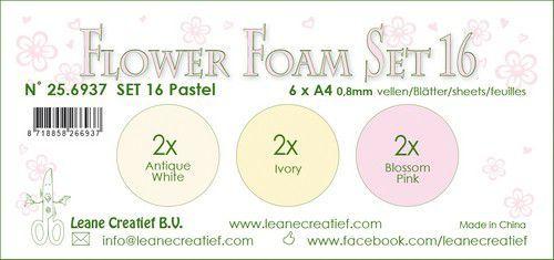 LeCrea - Flower Foam set 16 6 vl 3x2 Pastel 1. 25.6937 A4 (09-20)