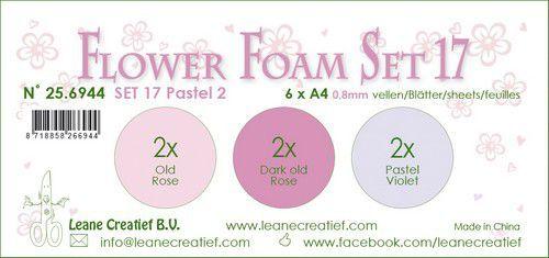 LeCrea - Flower Foam set 17 6 vl 3x2 Pastel 2. 25.6944 A4 (09-20)
